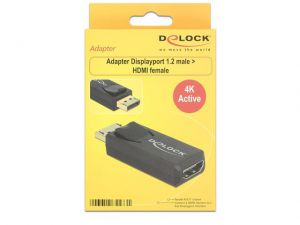 ADAPTER DISPLAYPORT 1.2->HDMI AKTYWNY 4K BLACK
