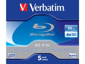 BD-R VERBATIM 50GB X6 (5 JEWEL CASE)